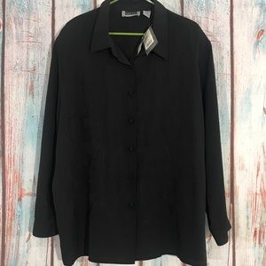 💎 NEW Maggie Barnes Black Button Up Blouse 26W